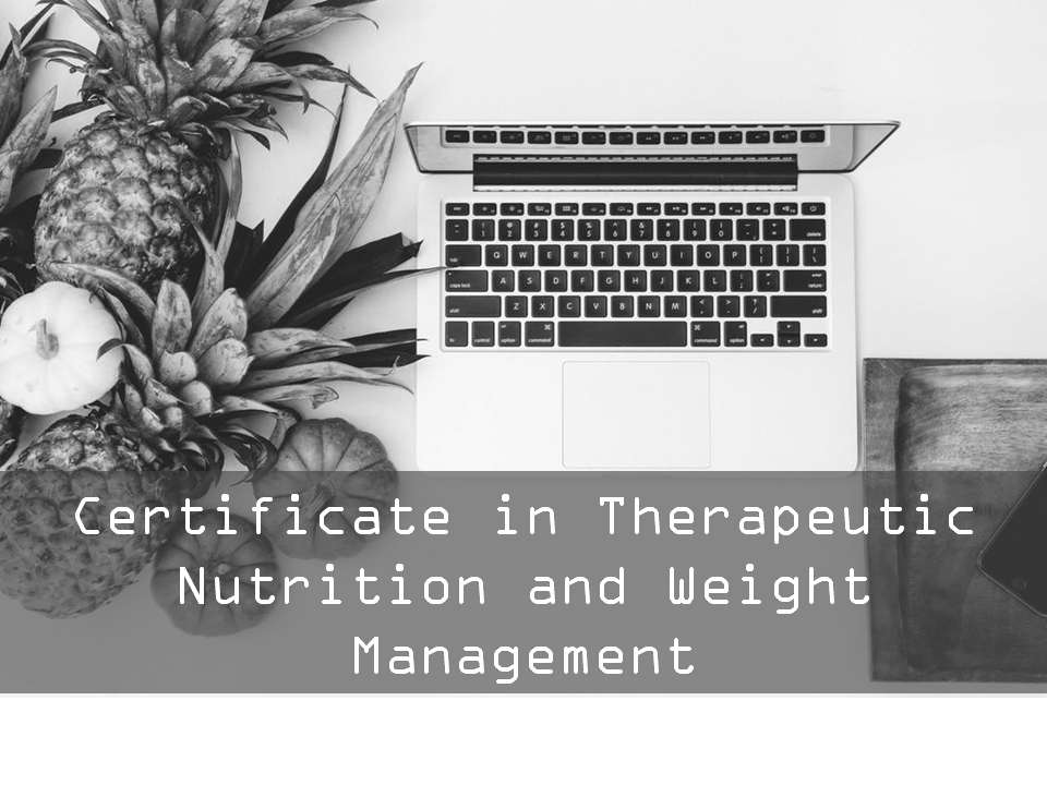 Certificate course in Therapeutic Nutrition and Weight Management (Self Learning No Tutor Guided) - 6 weeks